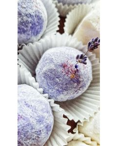Relaxing aromatherapy before bed time Lavender SOFT SOAP Raw Shea butter nut soap balls scrub with sea salt 3in1