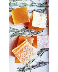 Facial Gentle Orange Grapefruit and Carrot Juice soap with rosemary extract refreshing and hydrating soap for every day