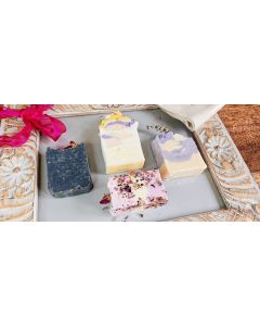 SALE!!!! Floral Selection of  4 our most popular  Soaps, facial Bar, Body ,Every day Rose , White Musk, Lemongrass , Lavender